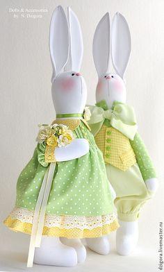 Купить Весенняя мелодия - кролики, зайцы, игрушка заяц, игрушка зайка, зайка, зайчик