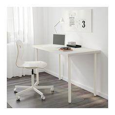 Kullaberg desk pine black desks apartments and room - Mesa linnmon adils ...