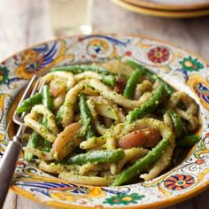 Pesto Pasta with Green Beans and Potatoes.