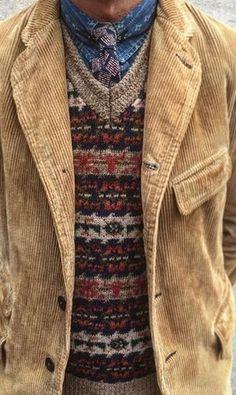 Stylish Men, Men Casual, Country Attire, Country Men, Blazer Outfits Men, Style Outfits, Corduroy Jacket, Mens Fashion, Fashion Vest