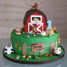 Animal Jungle Safari Theme Kids Birthday Party Cakes and Cupcakes - Mumbai Farm Birthday Cakes, Farm Animal Birthday, 3rd Birthday, 2 Year Old Birthday Cake, Birthday Ideas, Bithday Cake, Cupcakes, Cupcake Cakes, Barnyard Cake