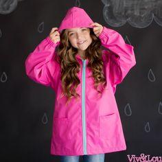 Hot Pink Kids Rain Jacket