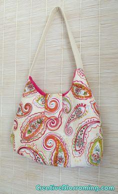 Phoebe bag DIY free purse sewing pattern tutorial boho bohemian paisley