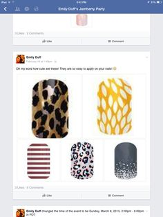 We have so many nail wraps that you can mix-and-match just go online to emilyroseduff.jamberrynails.net to shop