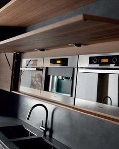 Cement kitchen with island WIND ETA NOIR CEMENT by TONCELLI CUCINE
