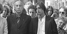 Romain Gary and his son Alexandre Diego Gary at the funeral of his second wife, Jean Seberg in Sept 79 by suicide. Sadly a year later, Dec Alexandre would lose his father Romain to suicide as well. Jean Seberg, Romain Gary, Second Wife, Jewish History, Ballet, Celebrity Pictures, Memoirs, Fairy Tales, Couple Photos