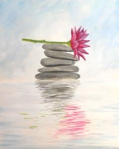 Zen Again. at Hard Rock Cafe Anchorage - Paint Nite Events near Anchorage, AK> Zen Painting, Watercolor Paintings, Watercolour, Diy Canvas Art, Pictures To Paint, Acrylic Art, Painting Inspiration, Art Projects, Drawings