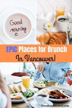 The best brunch in Vancouver is closer than you think! Check out this complete list of all the best breakfasts in Vancouver! Canada Winter, Canada Holiday, Canada Vancouver, Vancouver Travel, Alberta Canada, Quebec, Ontario, Breakfast Restaurants, Vancouver Restaurants
