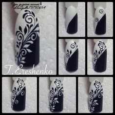 26 Elegant Black Nail Art Designs that You'll Love - Bellest.- 26 Elegant Black Nail Art Designs that You'll Love Nail Art Diy, Easy Nail Art, Cool Nail Art, Diy Nails, Nail Nail, Nail Polish, Fancy Nails, Love Nails, Simple Nail Art Designs