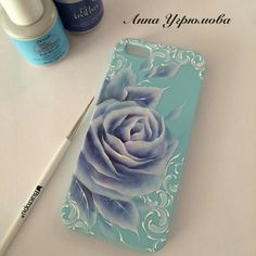 ☺ Cool Phone Cases, Iphone Cases, One Stroke Painting, Brush Strokes, Nail Art Designs, Folk Art, Arts And Crafts, Butterfly, French