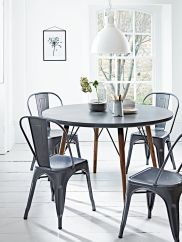 NEW Two Grey Hammered Metal Chairs