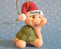 Whimsical Miniature Turtle Christmas Ornament 1 by Buttonwilloe, $11.00