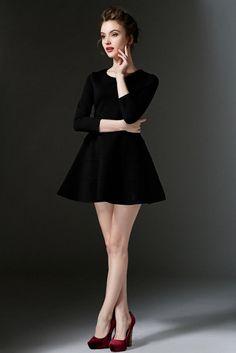 Fall dress 3/4 sleeve dress  B188