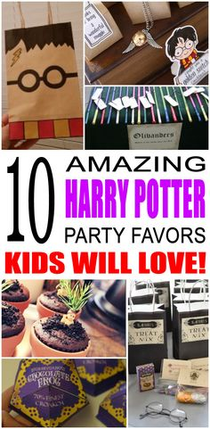 Harry Potter Party Favor Ideas Fun harry potter party favor ideas that kids and teens will love. Try these simple diy harry potter Boy Party Favors, Party Favors For Kids Birthday, Party Themes For Boys, Birthday Crafts, Birthday Ideas, Birthday Parties, Party Crafts, Birthday Games, Harry Potter Food