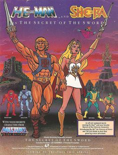 Secret of the Sword - I remember the big deal about this since it was the debut of She-Ra. I saw it in the theater and it was crazy because it was like my home tv was on steroids to watch He-Man on the big screen. Plus the multiple transformation sequences (including the dual one for He-Man AND She-Ra at the same time) were sweet. The theme song to the movie, however, not so much... ::chills::