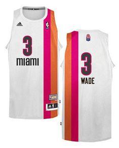Heat  3 Dwyane Wade White ABA Hardwood Classic Stitched NBA Jersey Air  Jordan 9747d6815