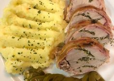 Hungarian Recipes, Hungarian Food, Mashed Potatoes, Bacon, Pork, Ethnic Recipes, Whipped Potatoes, Pork Roulade, Hungarian Cuisine