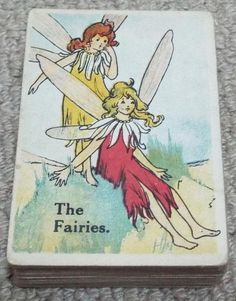 Antique Fairy Snap Playing Card Game c1910 - Elves - Witch Playing Card Games, Elves, Witch, Fairy, Antiques, Ebay, Antiquities, Antique, Playing Cards