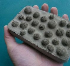 DIY soap dish out of cement