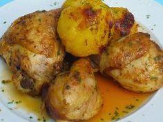 Pollo marroquí olla GM Ana Sevilla Crockpot Recipes, Chicken Recipes, Cooking Recipes, Kitchen Dishes, Main Dishes, Banana Colada, Costa Rican Food, My Favorite Food, Favorite Recipes