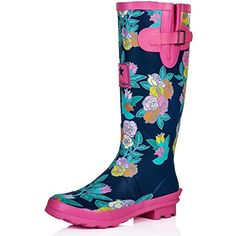 Spylovebuy Women's WF - Funky Flat Wellie Wellington Festival Rain Boots - Assorted Colours UK4 - EU37 - US6 - AU5 Navy / Pink Floral Spylovebuy http://smile.amazon.com/dp/B00L15SL4U/ref=cm_sw_r_pi_dp_og0Fub1CFMYDZ