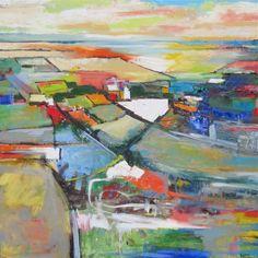 Abstract oil painting: 'Vicinity-2' by Kim Ford Kitz kimfordkitz.com