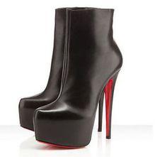 Women-039-s-Sexy-Platform-Pumps-stiletto-Heel-Shoes-Zipper-High-Knight-Ankle-Boots-A