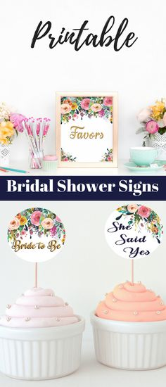 Need bridal shower ideas? These beautiful printable bridal shower decorations are perfect for a floral theme. They can also be used for a baby shower.