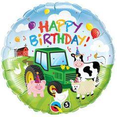 """Happy Birthday Adorable Farm Animals 18"""" Mylar Balloon by Qualatex, http://www.amazon.com/dp/B004UN8MUS/ref=cm_sw_r_pi_dp_mTeKqb1HGM990"""