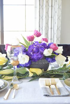 ZDesign At Home: A Modern Easter Table Scape Holiday Entertaining Tour