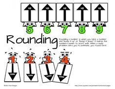 A different take on teaching rounding skills. Teaching Reading, Teaching Math, Maths, Learning, Math Resources, Math Activities, Classroom Resources, Math Round, Math Place Value