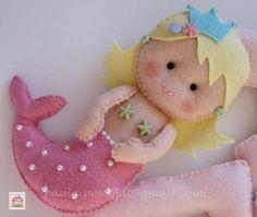 Felt   ♥♥♥ Para uma pequena sereiazinha...