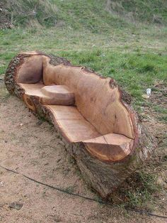 If you'd love to have a bench exactly where your tree fell...