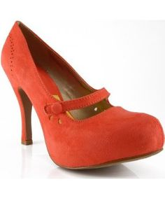 Qupid Trench-103X Almond Toe Mary Jane Pumps CORAL - Price: $28.90