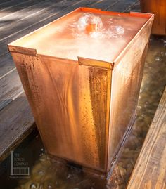 Copper water feature in Franklin TN makes the most amazing refreshing gentle bubbling sound