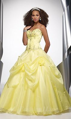 Always wanted a red wedding gown, but, yellow is pretty. Looks like Belle