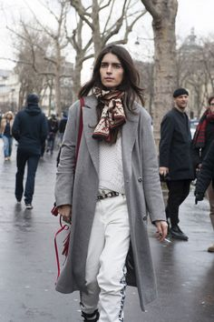 Casual look gets a chic twist. #PFW