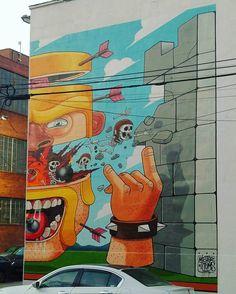 @misterthoms #mural #Williamsburg #streetart #Brooklyn #urbanart #photography #NewYorkCity #skeleton #skull #bomb & #arrows