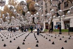 Intervenção urbana com balões / Universidad Mayor