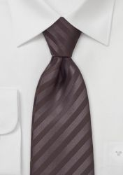 Mikrofaser-Krawatte unifarben kaffebraun Streifenmuster günstig kaufen