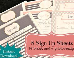 cute sign up sheet templates - Google Search | Teaching: language ...