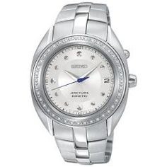 @Overstock - The diamond Arctura wristwatch by Seiko features a see thru caseback displaying its kinetic movement. Constructed of stainless steel, this women's watch is bold yet classy.http://www.overstock.com/Jewelry-Watches/Seiko-Womens-Arctura-Stainless-Steel-Diamond-Accent-Watch/5615744/product.html?CID=214117 $296.05