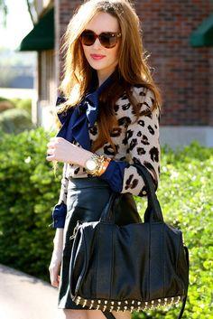 Studded Bag, Leopard Sweater #GoldenDivineBlog