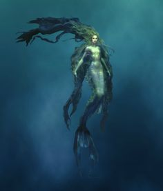 ♒ Mermaids Among Us ♒ art photography paintings of sea sirens & water maidens - Evil Mermaids, Fantasy Mermaids, Mermaids And Mermen, Magical Creatures, Fantasy Creatures, Sea Creatures, Siren Mermaid, Mermaid Art, Foto Portrait