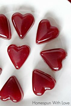 Homespun With Love: Tart Cherry Heart Gummies  Using real gelatin and tart cherry juice, these treats are good for you