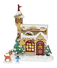 Look at this #zulilyfind! Department 56 Rudolph the Red-Nosed Reindeer 'Flying School' Figurine Set #zulilyfinds