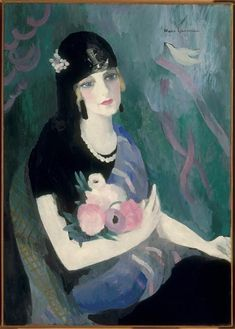 Marie Laurencin | Portrait de la Baronne Gourgaud à la mantille Noire | Images d'Art