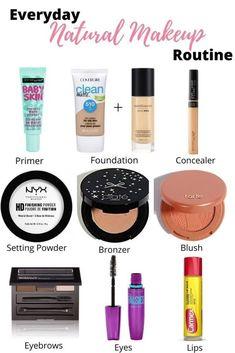 Everyday Makeup For School, Natural Everyday Makeup, Everyday Makeup Tutorials, Everyday Makeup Routine, Natural Makeup Tips, Steps Of Makeup, Natural Makeup Tutorials, Easy School Makeup, Middle School Makeup