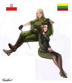 Nyotalia - 10 by conservativepunk Lithuania Hetalia, Watch Manga, Hetalia Cosplay, Hetalia Funny, Anime Military, Hetalia Characters, Epic Art, History Memes, Country Art