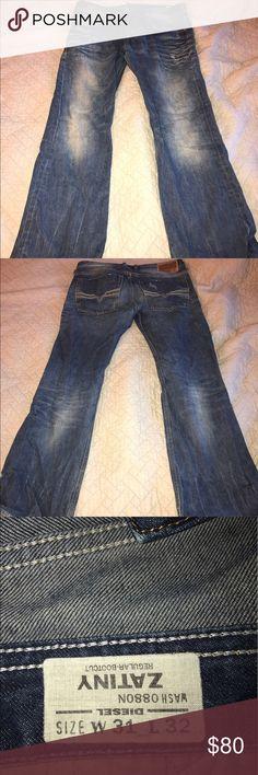 7744a17507c Diesel men's jeans 31/30 Men's diesel boot cut zatiny jean 31 waist hemmed  professionally